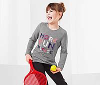 Футболка спортивная с длинным рукавом для девочки  ГЕРМАНИЯ TCM TCHIBO