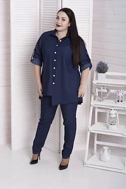 Модная женская рубашка из джинса батал с 48 по 98 размер, фото 2