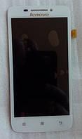 Lenovo S650 білий тачскрін + дисплей LCD оригінальний екранний модуль 100% робочий