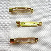 Основа для броши, Япония, 30 мм, золото