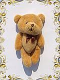 Мини плюшевый мишка - 11 см (светло - коричневый)., фото 3