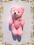 Мини плюшевый мишка - 8,5 см (розовый), фото 2
