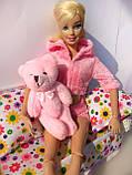 Мини плюшевый мишка - 8,5 см (розовый), фото 4