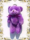 Мини плюшевый мишка - 11 см (фиолетовый)., фото 2
