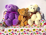 Мини плюшевый мишка - 11 см (фиолетовый)., фото 3
