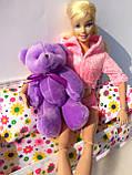 Мини плюшевый мишка - 11 см (фиолетовый)., фото 5