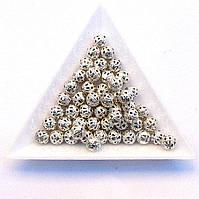 Бусины Ажурные 6 мм сталь (в уп. 1000 шт)