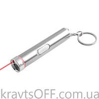 Фонарь брелок 1602-Ultra-glow, лазер, 3xLR44
