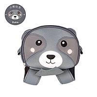 Детский рюкзак Енот серый