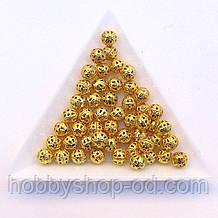 Бусины Ажурные 6 мм золото (в уп. 1000 шт)