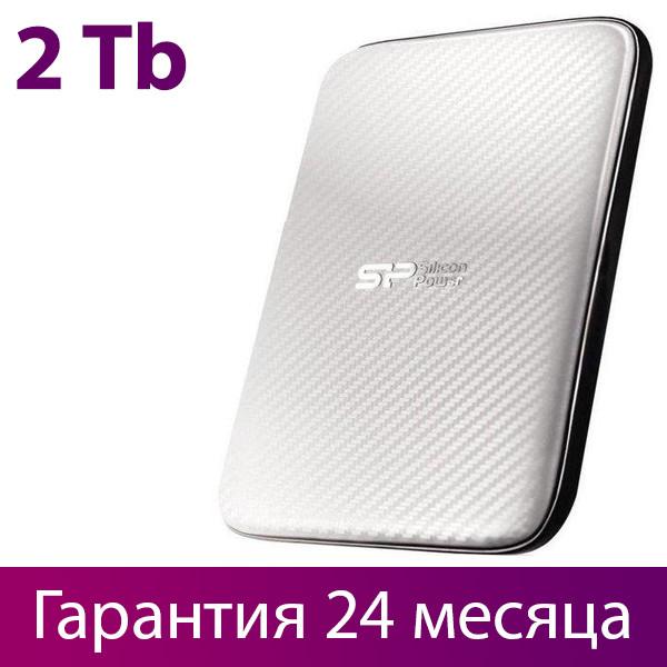 """Внешний жесткий диск 2 Тб Silicon Power Diamond D20, White, 2.5"""", USB 3.0 (SP020TBPHDD20S3W)"""