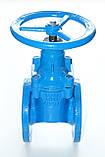 Задвижка чугунная с обрезиненным клином METALPOL тип 111UGSF Ду100 Ру16, фото 4