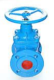 Задвижка чугунная с обрезиненным клином METALPOL тип 111UGSF Ду100 Ру16, фото 6