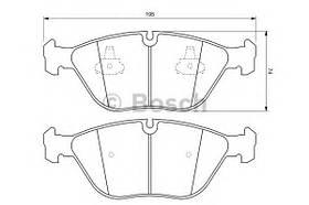 Тормозные колодки Bosch 0 986 424 649 AUDI, BMW, CHRYSLER, MERCEDES-BENZ, VW