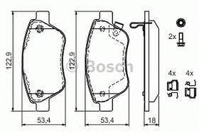 Тормозные колодки Bosch 0 986 494 092 OPEL