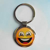 """Брелок для ключей металлический сувенирный """"Смайлик"""". Арт - 8"""