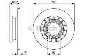Тормозной диск Bosch 0 986 479 389 FORD