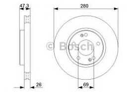 Тормозной диск Bosch 0 986 479 368 HYUNDAI, KIA