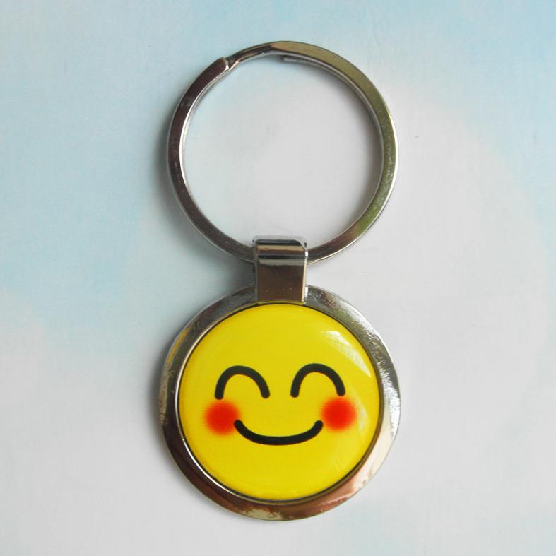 """Брелок для ключей металлический сувенирный """"Смайлик"""". Арт - 7"""