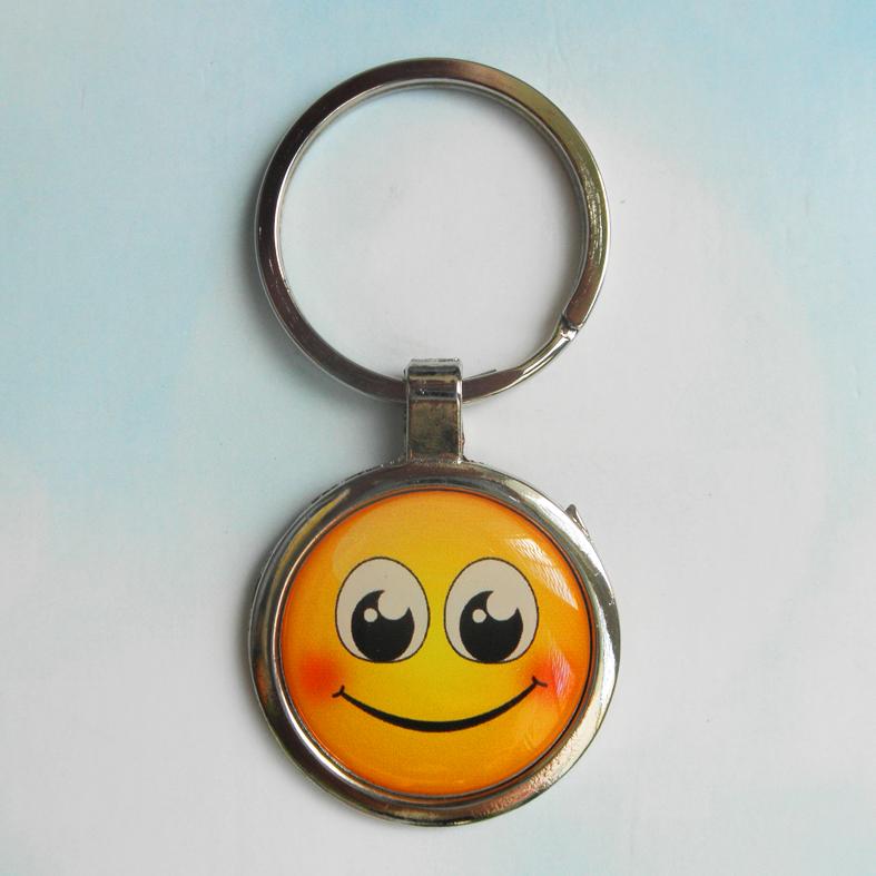 """Брелок для ключей металлический сувенирный """"Смайлик"""". Арт - 6"""