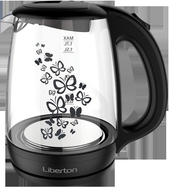 Чайник электрический 1.7 л Liberton LEK-1703-black