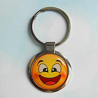 """Брелок для ключів металевий сувенірний """"Смайлик"""". Арт - 3"""