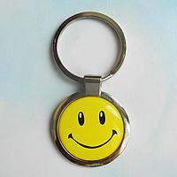 """Брелок для ключей металлический сувенирный """"Смайлик"""". Арт - 2"""