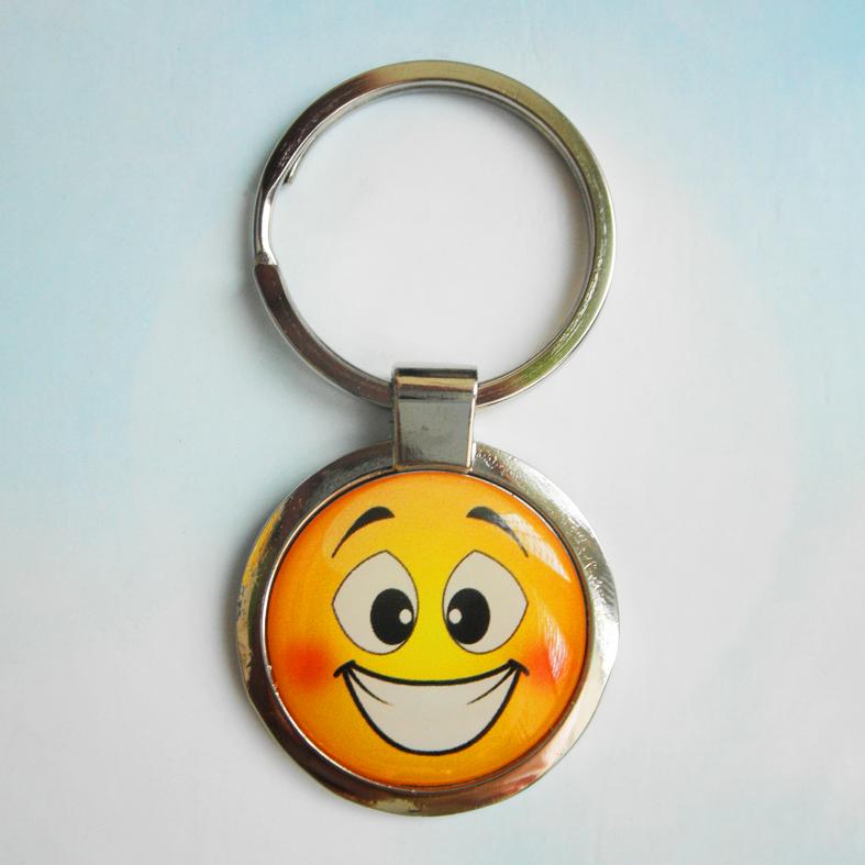 """Брелок для ключей металлический сувенирный """"Смайлик"""". Арт - 1"""