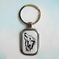 """Брелок для ключей металлический сувенирный """"Волк"""""""