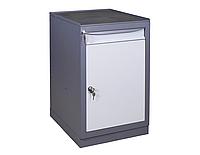 Тумба инструментальная МД (500х600хН835мм), станочная тумба с выдвижным ящиком и дверью