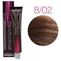 Краска для волос L'Oreal Professionnel Diarichesse 8,02 светлый блондин жемчужный, 50 мл