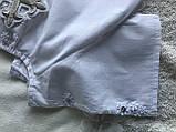 Белая рубашка для крещения с белыми цветами, фото 4