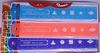 """Линейка-неломайка """"Flex с геом. фигурами"""" 20см 12шт в упак. /8/96/"""
