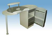 Стол А-2 для аппаратного маникюра с вытяжкой (пылесосом)+тумба с ящичками и выдвижным элементом
