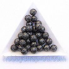 Бусины Ажурные 8 мм нефть (в уп. 1000 шт)