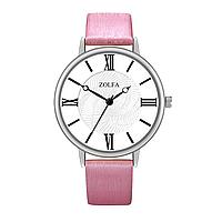 Женские часы Zolfa. Ремешок розовый металик   9216-2