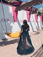 Туника женская пляжная красивая с оборкой Kkmn221