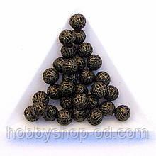 Бусины Ажурные 8 мм бронза (в уп. 1000 шт)