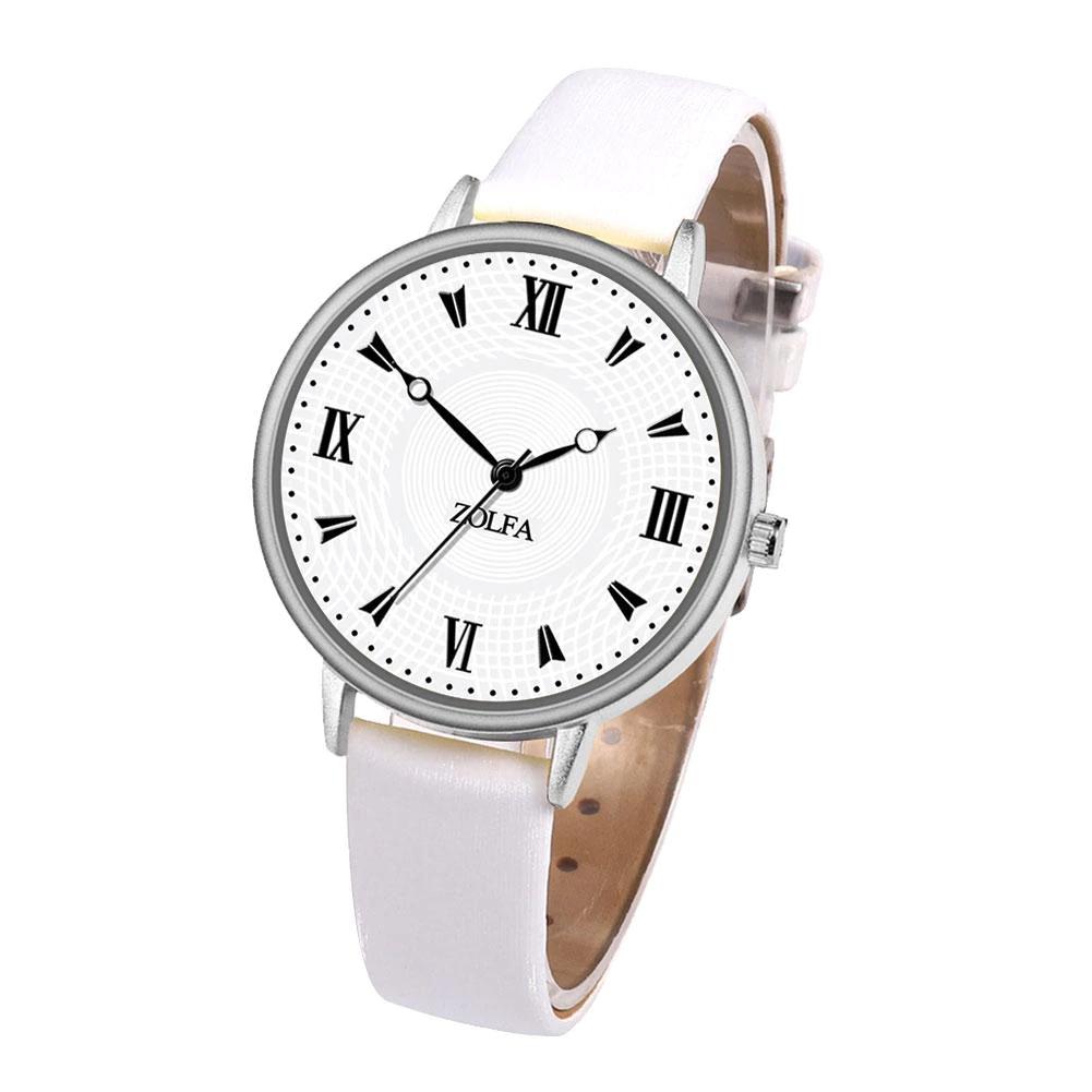 Женские наручные часы Zolfa. Ремешок белый металик   9216-3