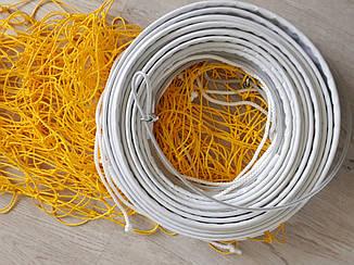 Сетка волейбольная со шнуром натяжения D-2,5 мм, ячея 12 см
