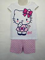 Летняя пижама костюм для девочки Hello Kitty 86-92 1-2 года