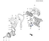 Ролик обводной ремня ГРМ Круз 1.6-1.8i, Cruze J300, 24436052, GM, фото 4