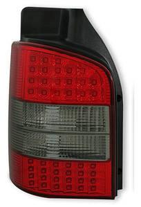 Фонари задние для Volkswagen Transporter T5 03-09 комплект (DEPO) 1 дверь, красно дымчатые, Led