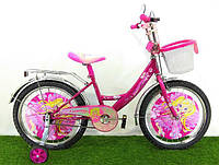 Велосипед для девочки Mustang Принцесса + корзинка/Диаметр колеса 12