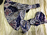 Косынка повязка солоха с привязывающимся бантом серая, фото 6