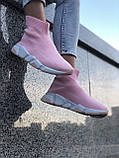 VIP Женские Кроссовки Balenciaga розовые Качество Премиум Молодежные Баленсиага реплика 36 37 38 39 40р, фото 5