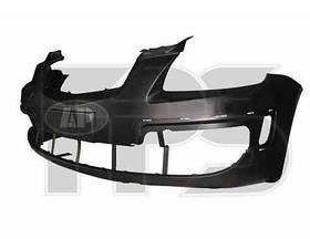 Бампер передний черный с отв. под накладки -2010