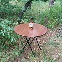 Стол складной  круглый Орех 800 мм для пикника