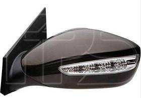 Зеркало правое электро с обогревом с указателем поворота без подсветки Hyundai Sonata 2010-14