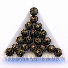 Бусины Ажурные 10 мм бронза (в уп. 1000 шт)